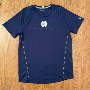 Under Armour Norte Dame Heatgear Fitted Tee Large